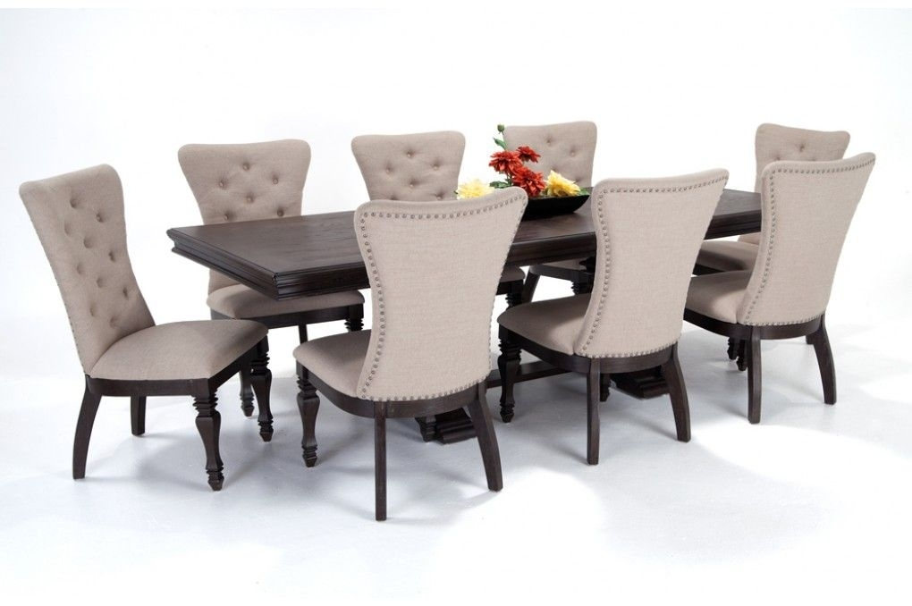 Riverdale 9 Piece Dining Set With Upholstered Chairs | Bob's Throughout Craftsman 9 Piece Extension Dining Sets (View 6 of 25)