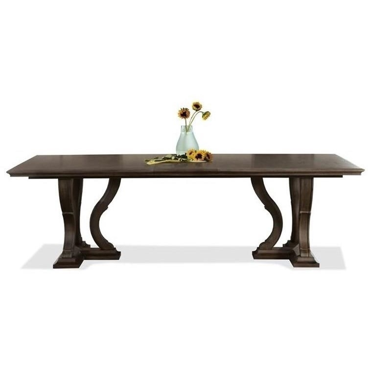 "Riverside Furniture Verona 24950 Trestle Dining Table With 18"" Leaf Pertaining To Verona Dining Tables (View 8 of 25)"