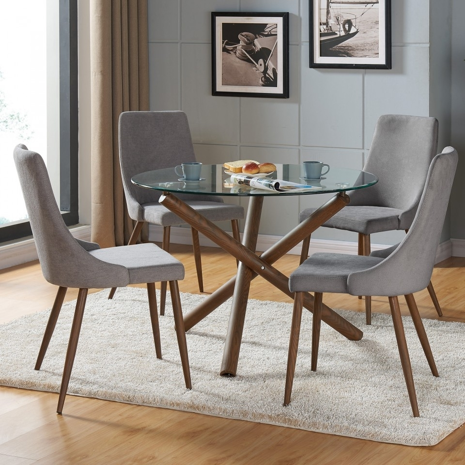 Rocca/cora 5Pc Dining Set Inside Cora Dining Tables (Image 22 of 25)