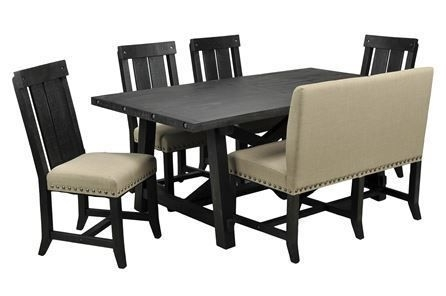 Rocco 7 Piece Extension Dining Set | Mi Cocina | Pinterest | Dining Throughout Jaxon 6 Piece Rectangle Dining Sets With Bench & Uph Chairs (View 2 of 25)