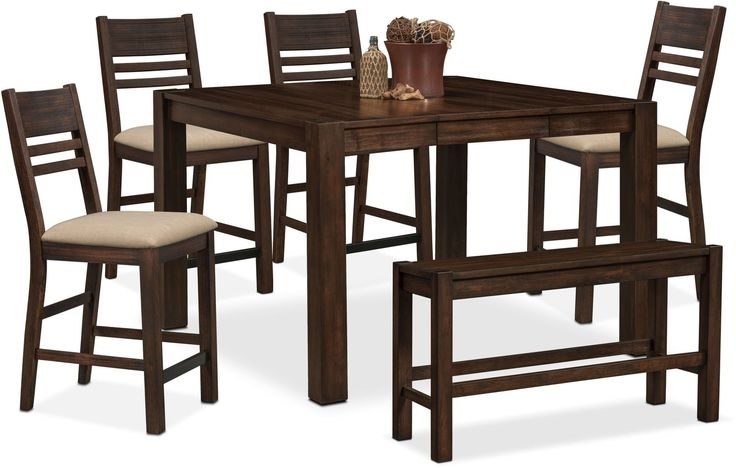 Rocco 9 Piece Extension Counter Set | Dining Room Table, Counter With Rocco 9 Piece Extension Counter Sets (View 12 of 25)