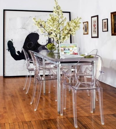 Rocking Similar Clear Plastic Chairs In My Dining Room! They Really Inside Clear Plastic Dining Tables (View 9 of 25)