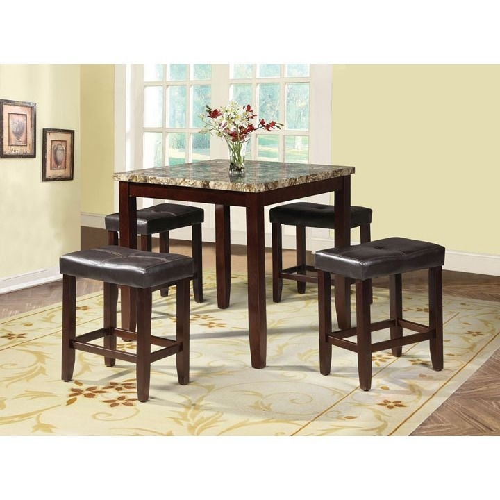 Rolle 5 Piece Pack Counter Height Set Table And Stools (Blythe 5Pc Pertaining To Harper 5 Piece Counter Sets (Image 13 of 25)