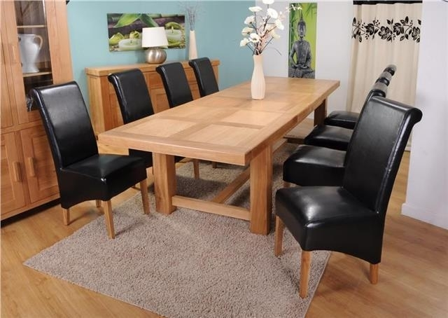 Roma Chunky Solid Oak Dining Room Furniture Extending Dining Table With Roma Dining Tables (View 23 of 25)