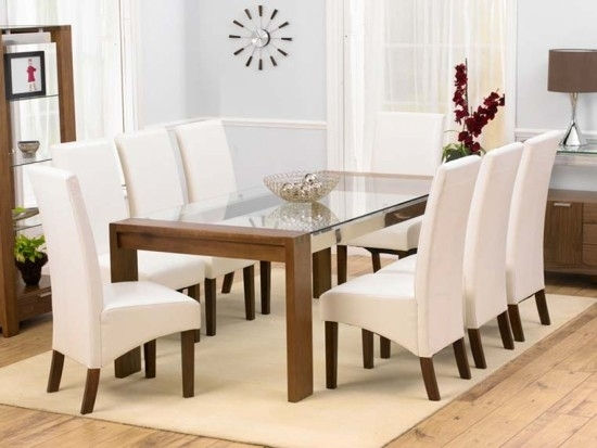 Roma Walnut 200Cm Dining Table + 8 Wng Chairs Set | Morale Home With Roma Dining Tables And Chairs Sets (View 17 of 25)