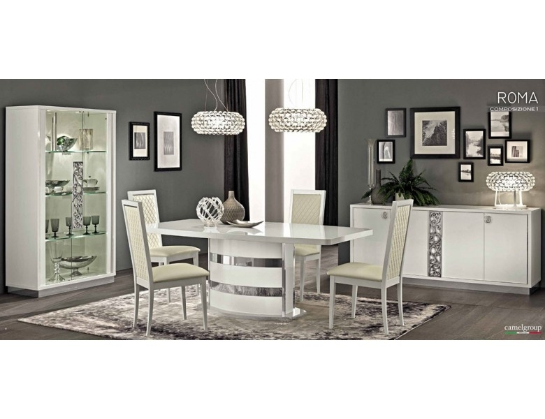 Roma White Modern Italian Dining Table Regarding Roma Dining Tables (View 15 of 25)
