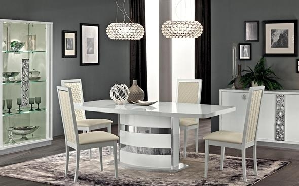 Roma White Table Roma Esf Furniture Dining Table Sets At Comfyco Intended For Roma Dining Tables And Chairs Sets (Image 19 of 25)