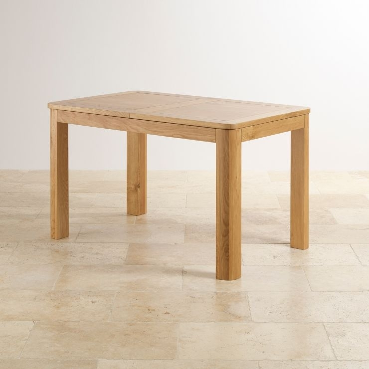 Romsey Extending Dining Table In Solid Oak | Oak Furniture Land With Regard To Extending Solid Oak Dining Tables (Image 23 of 25)