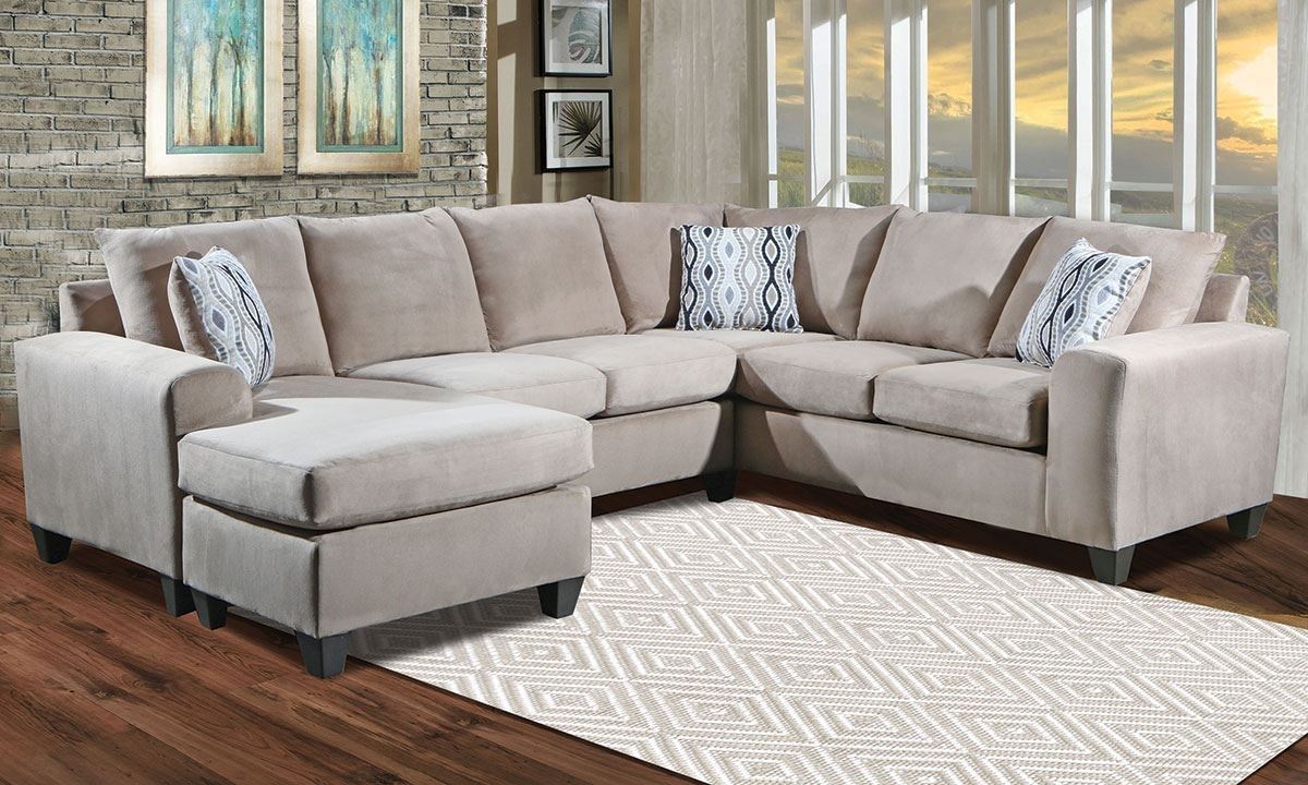 Room Size Sectional With Reversible Chaise | The Dump Luxe Furniture Inside Norfolk Grey 3 Piece Sectionals With Laf Chaise (View 16 of 25)