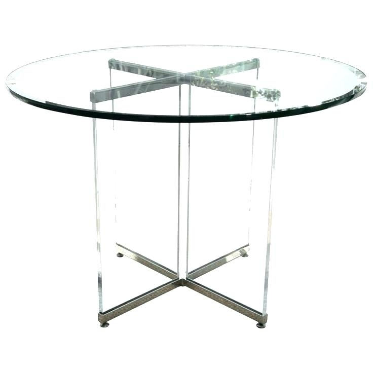 Round Acrylic Table Clear Acrylic Chrome And Clear Glass Coffee Intended For Acrylic Round Dining Tables (View 6 of 25)