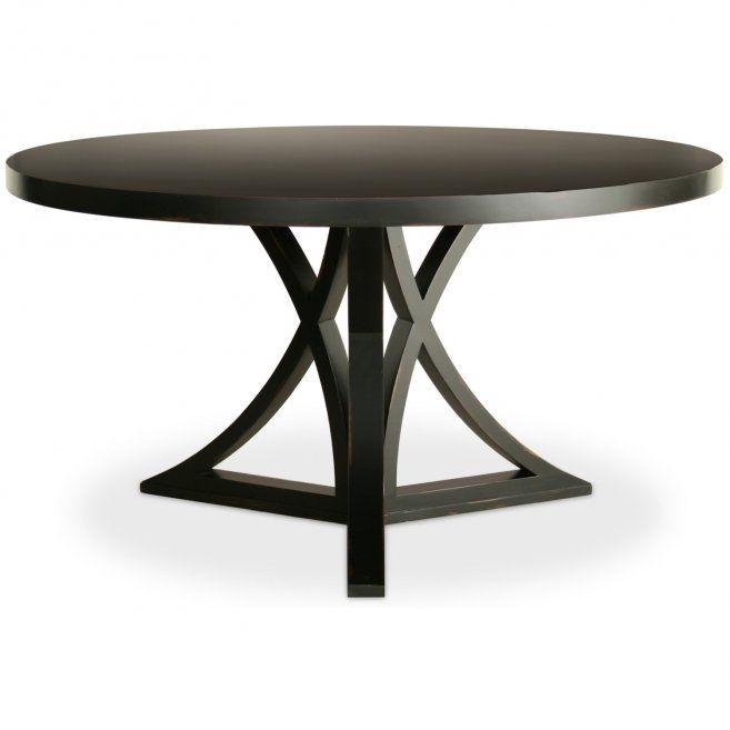 Round Black Dining Room Table Design Inspirations: Sophia Round Intended For Dark Round Dining Tables (Image 20 of 25)