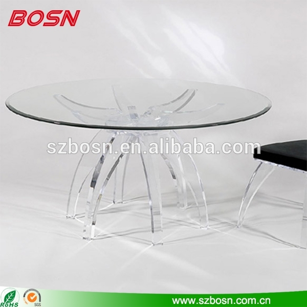 Round Clear Acrylic Dining Table Perspex Dining Table – Buy Perspex Intended For Acrylic Round Dining Tables (View 10 of 25)