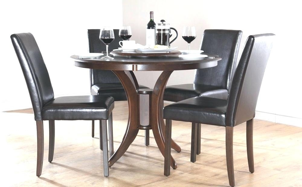 Round Dark Wood Dining Table Alluring Round Extendable Dining Table Intended For Dark Wood Dining Tables (Image 21 of 25)