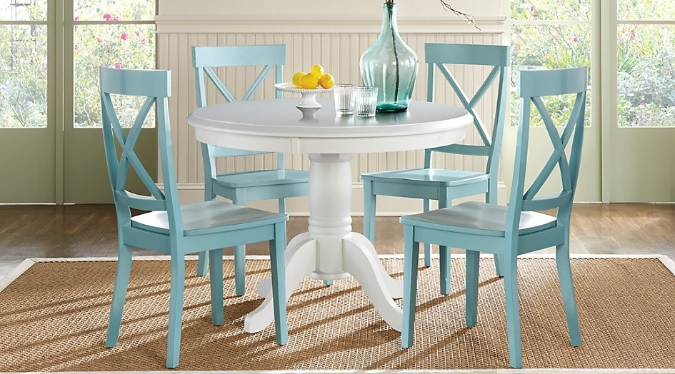 Round Dining Chairs – Ijcrb In Jaxon Grey 5 Piece Round Extension Dining Sets With Wood Chairs (View 25 of 25)
