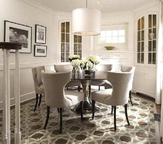 Round Dining Room Sets For 6 – Royalcours With 6 Person Round Dining Tables (Image 16 of 25)