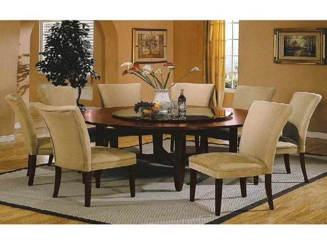 Round Dining Room Table Set For 8 New Modern Round Dining Table For Inside Dining Tables Set For  (Image 22 of 25)