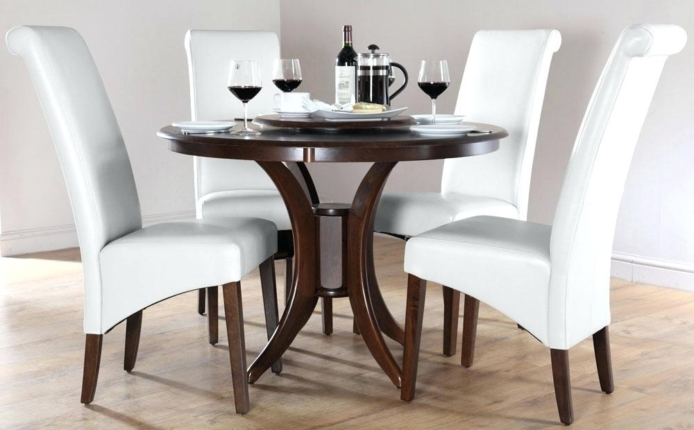 Round Dining Room Tables For 4 Urban Table Oak And Chairs 42 Inch With Circular Dining Tables For (View 19 of 25)