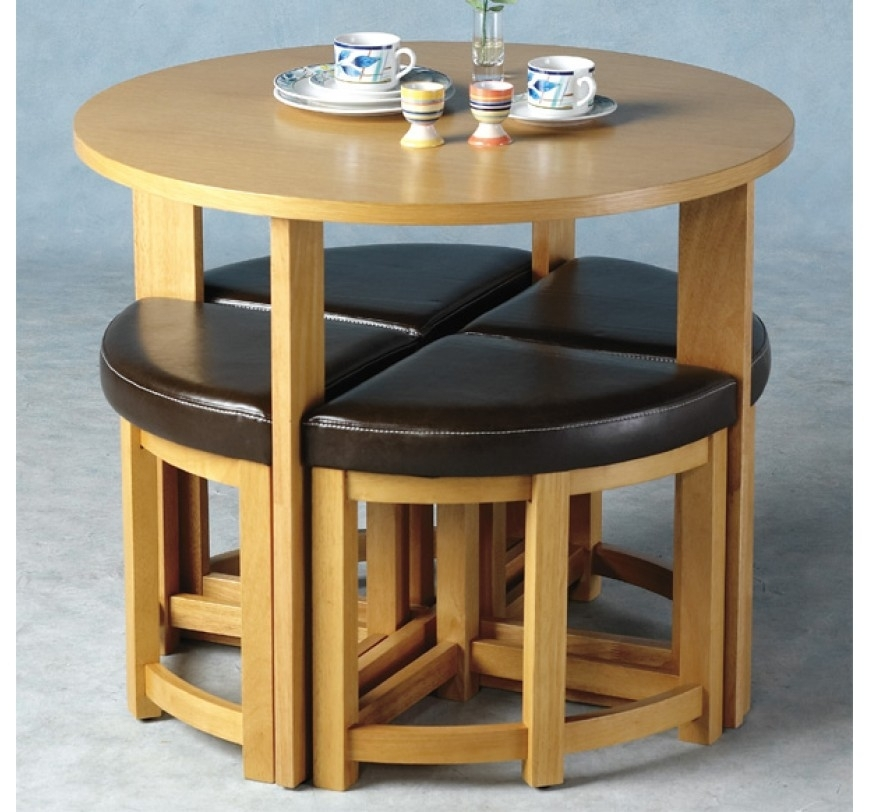 Round Dining Set With Regard To Stowaway Dining Tables And Chairs (View 11 of 25)