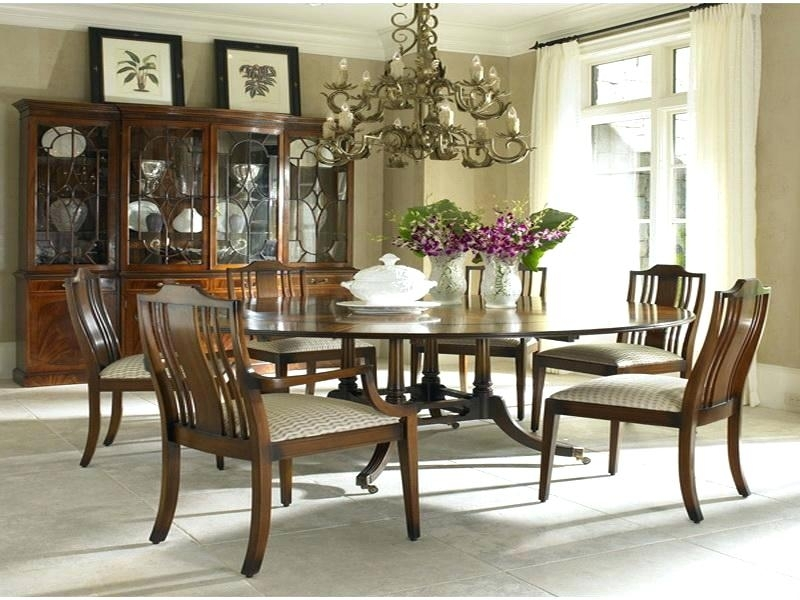 Round Dining Table 6 6 Person Round Glass Dining Table Round Dining Intended For 6 Seat Round Dining Tables (Image 19 of 25)
