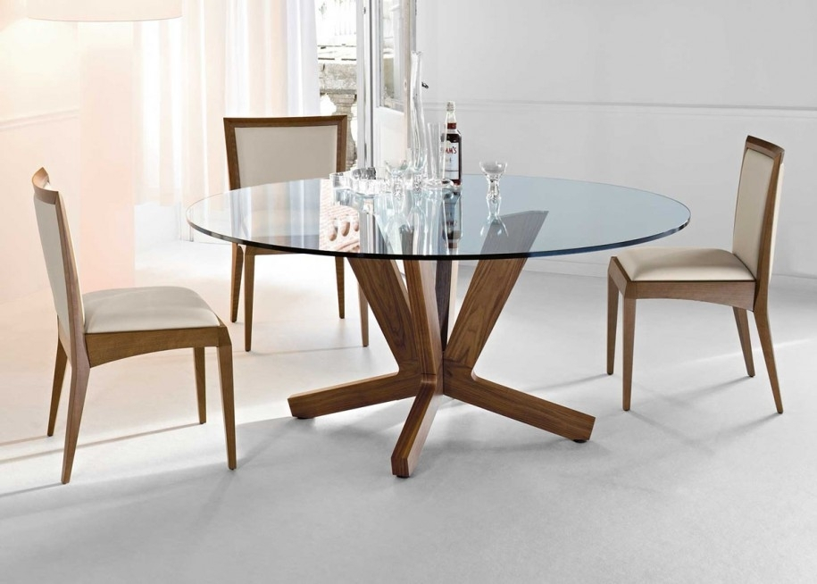 Round Dining Table 60 Round Glass Dining Tablet For A Higher Level Inside Glasses Dining Tables (Image 18 of 25)
