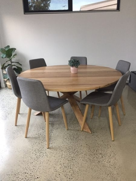 Round Dining Table – Custom | Dining Tables | Gumtree Australia Inside Round Dining Tables (View 10 of 25)