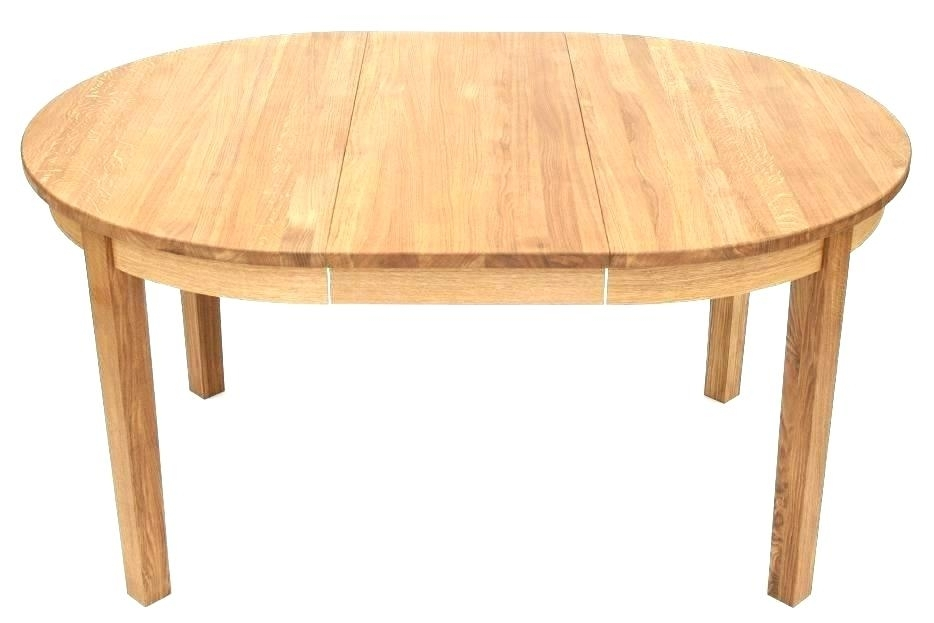 Round Dining Table Expandable Extendable Dining Table And Chairs With Regard To Round Dining Tables Extends To Oval (Image 19 of 25)