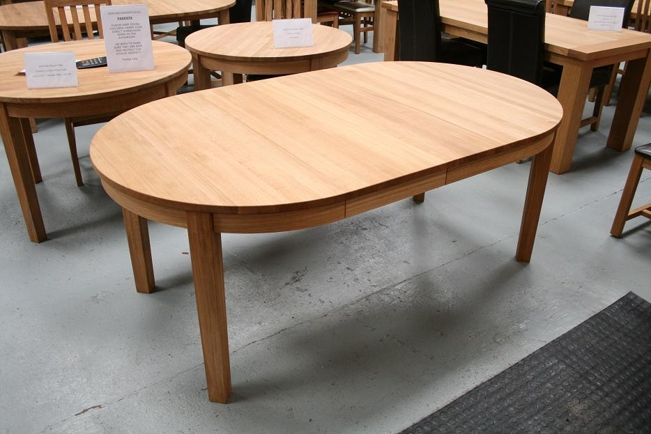 Round Dining Table | Extending Round Oval Dining Table Intended For Round Extending Oak Dining Tables And Chairs (Image 18 of 25)