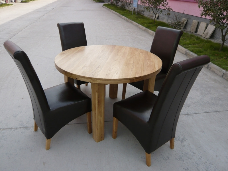 Round Dining Table   Extending Round Oval Dining Table Pertaining To Oak Round Dining Tables And Chairs (Image 16 of 25)