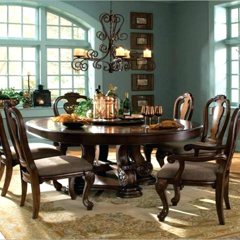 Round Dining Table For 6 – Eesanje Intended For 6 Person Round Dining Tables (View 20 of 25)