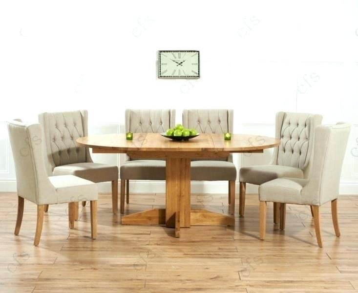 Round Dining Table For 6 White Dining Table Chairs Dining Tables 6 Within Extendable Round Dining Tables Sets (Image 19 of 25)