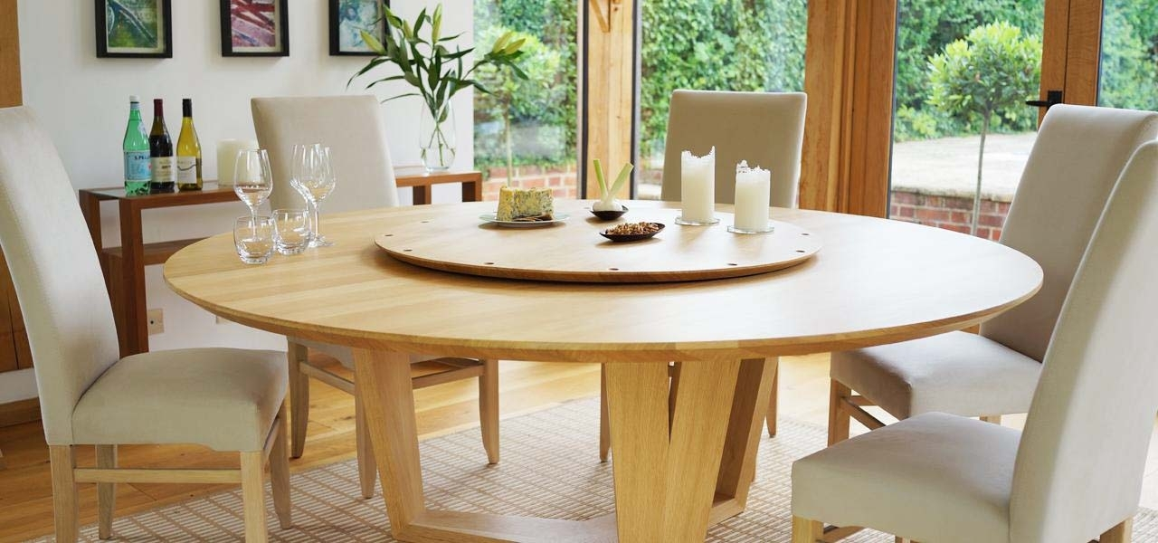 Round Dining Table For 8 With Lazy Susan Modern Home Design Large Throughout Huge Round Dining Tables (Image 24 of 25)