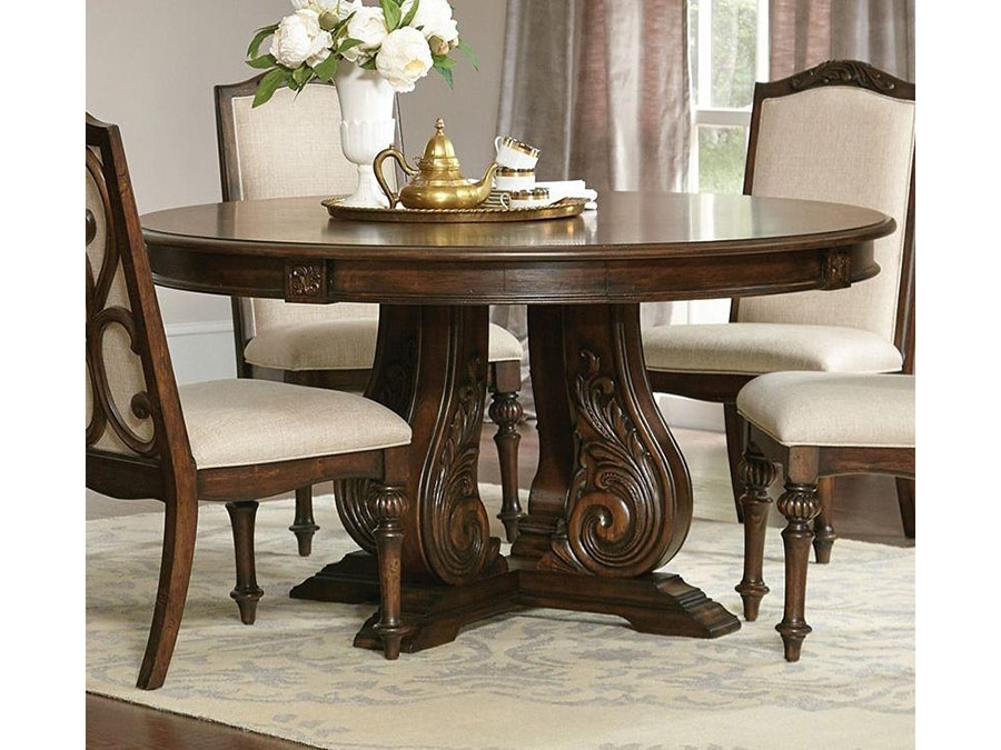 Round Dining Table In Antique Java Brown – Shop For Affordable Home With Java Dining Tables (View 20 of 25)