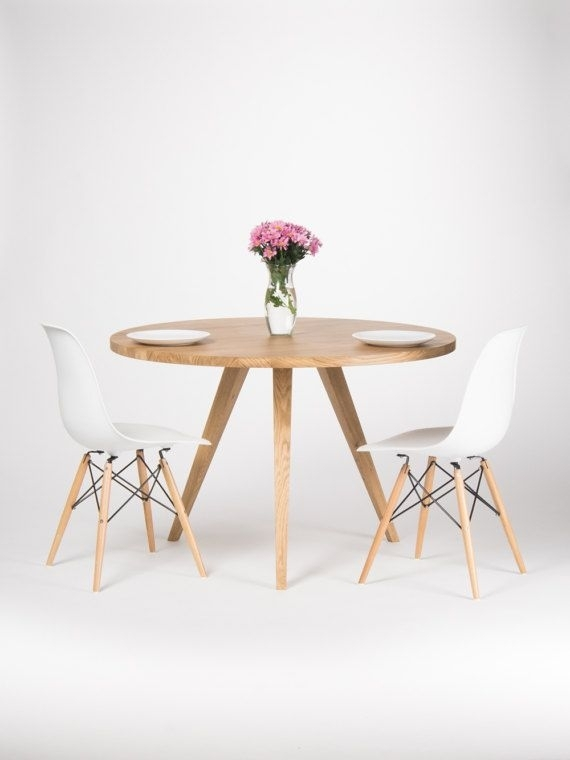 Round Dining Table, Large Kitchen Table, Made Of Solid Oak Wood, Ø For Lassen Round Dining Tables (Image 21 of 25)