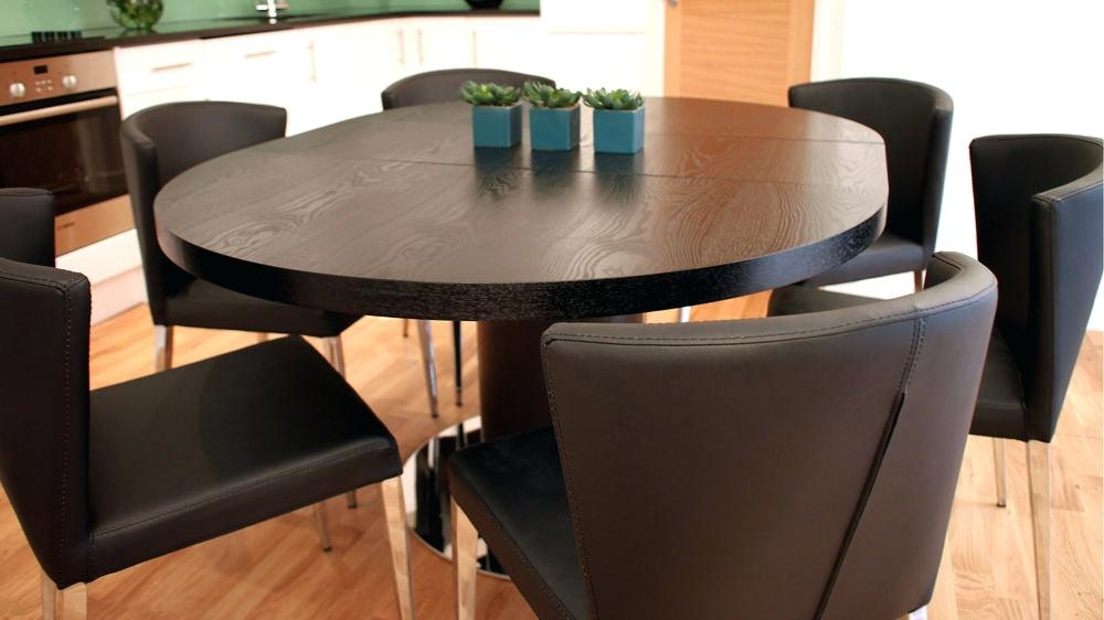 Round Dining Table Pedestal Base – Ocane Regarding Extended Round Dining Tables (View 15 of 25)