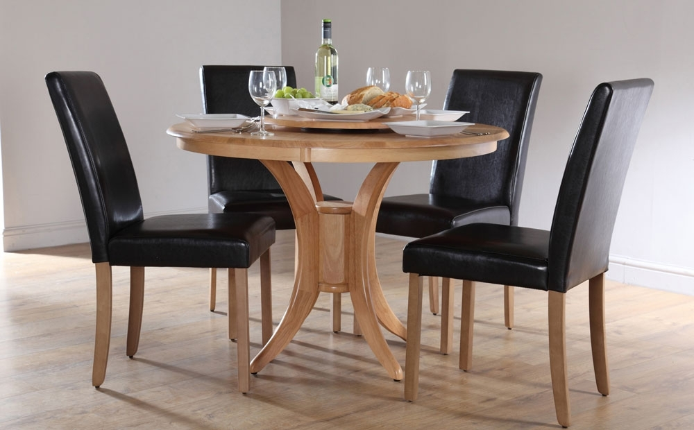 Round Dining Table Set For 4 | Homesfeed Inside Cheap Round Dining Tables (View 2 of 25)
