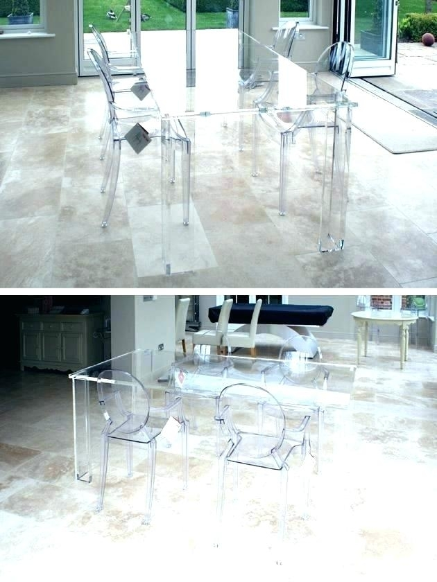 Round Dining Table Simplistic Tables Wood Best Home Furniture Lucite Within Round Acrylic Dining Tables (View 11 of 25)