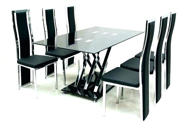 Round Dining Table With 6 Chairs Wooden Dining Table And 6 Chairs Inside Dining Tables And Six Chairs (Image 16 of 25)