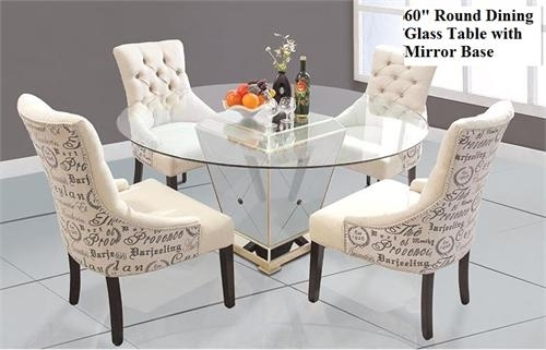 Round Dining Table With Mirror Base Throughout Mirror Glass Dining Tables (View 3 of 25)