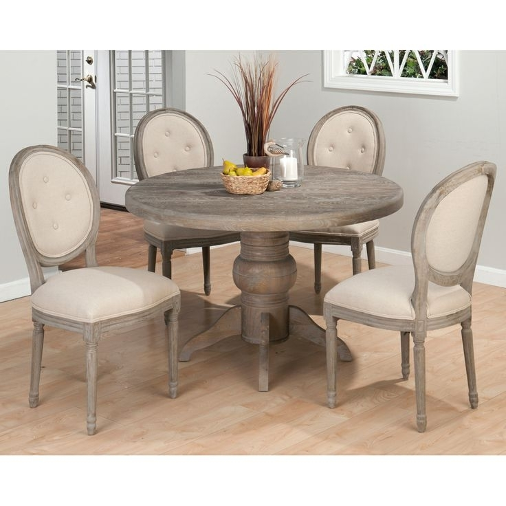 Round Dining Table With Upholstered Chairs | Ecycleontario Intended For Jaxon 5 Piece Round Dining Sets With Upholstered Chairs (View 25 of 25)
