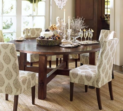 Round Dining Table With Upholstered Chairs | Karennarvasa Regarding Jaxon 5 Piece Round Dining Sets With Upholstered Chairs (Image 21 of 25)