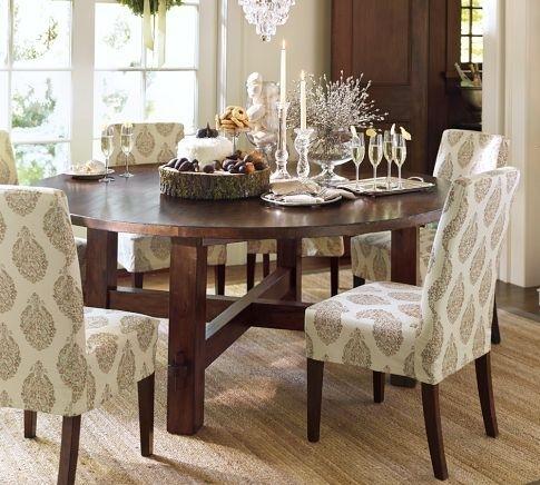 Round Dining Table With Upholstered Chairs | Karennarvasa Regarding Jaxon 5 Piece Round Dining Sets With Upholstered Chairs (Image 21 of 25)
