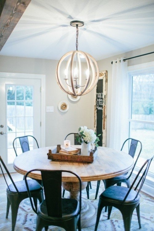 Round Dining Tables: 8 Affordable Options | The Harper House Intended For Magnolia Home Breakfast Round Black Dining Tables (View 6 of 25)