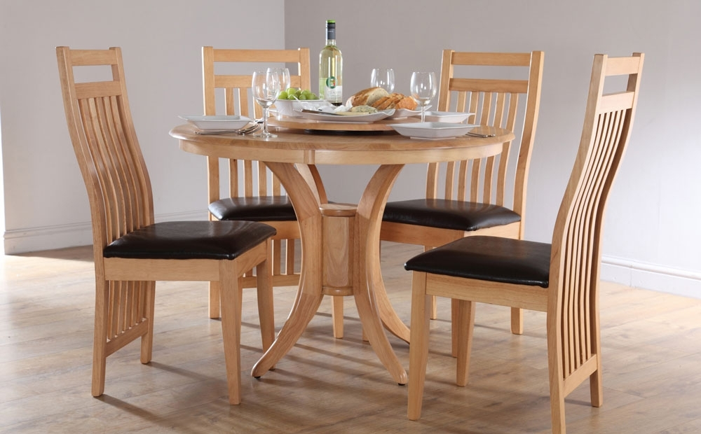 Round Dining Tables And Chairs Sets – Castrophotos With Circular Dining Tables For (View 4 of 25)