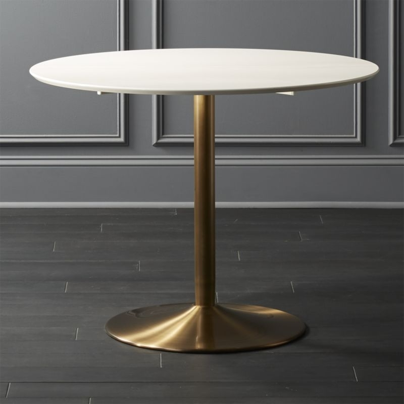 Round Dining Tables | Cb2 Pertaining To Cheap Round Dining Tables (Image 17 of 25)