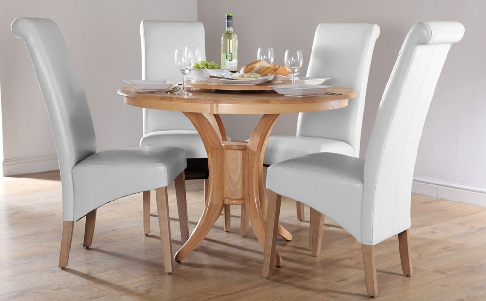 Round Dining Tables For 4 Chairs Set Eva Furniture, Dining Table Set With Regard To Small Extending Dining Tables And 4 Chairs (Image 11 of 25)