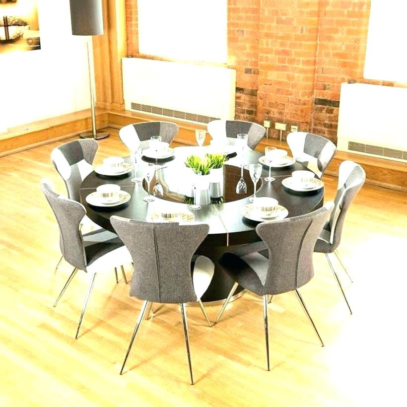 Round Dining Tables For 8 Oak Dining Table And 8 Chairs Big Round Throughout Oak Dining Tables 8 Chairs (View 25 of 25)