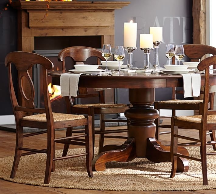 Round Dinning Table Decor Popular Tivoli Extending Pedestal Dining O Throughout Grady Round Dining Tables (Image 19 of 25)