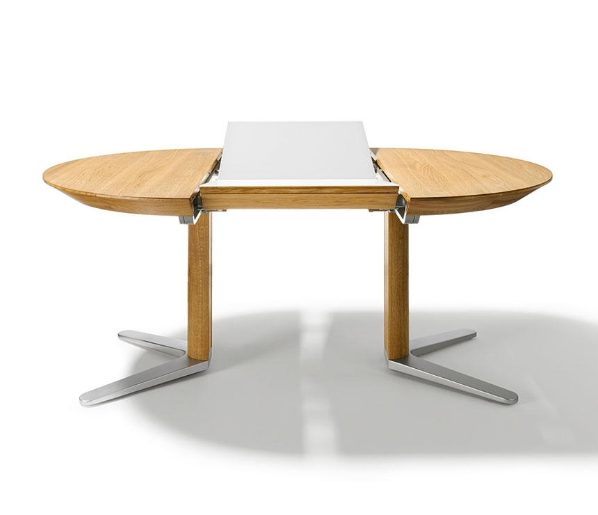 Round Extendable Dining Table Design | Home Living Ideas Regarding Round Extendable Dining Tables (Image 16 of 25)
