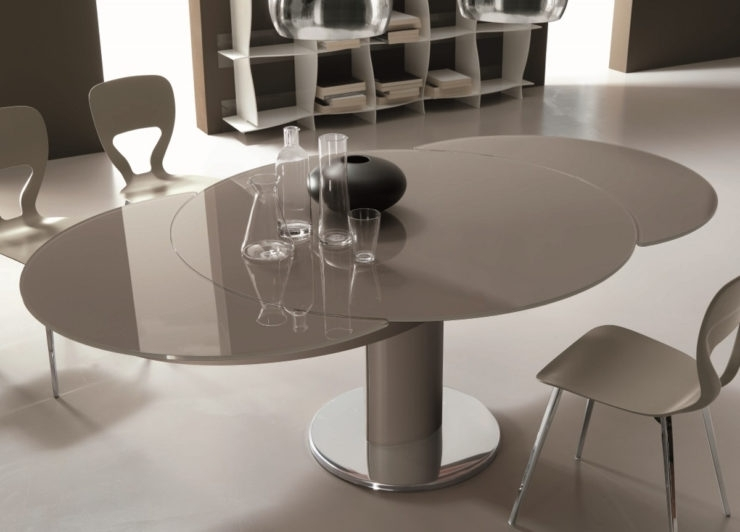 Round Extendable Dining Table Malaysia:: Fantastic Round Extendable For Glass Round Extending Dining Tables (View 12 of 25)
