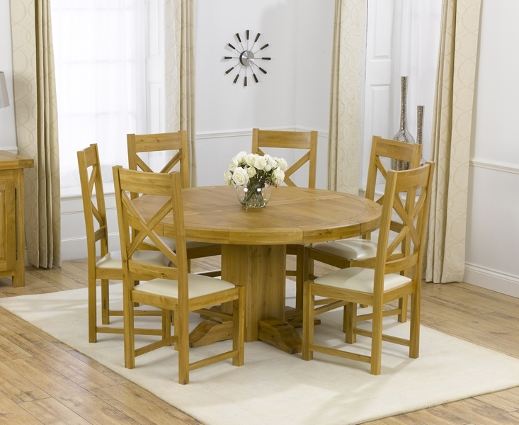 Round Extendable Table And Chairs Round Dining Room Chairs For Good Inside Round Extendable Dining Tables And Chairs (View 12 of 25)